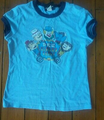 Women's Pez Pale Blue Circus Candy T Shirt Size Small 10
