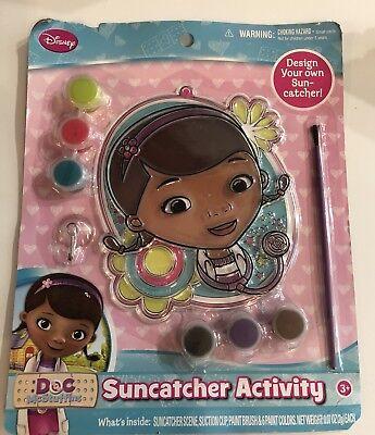Disney Doc McStuffins The First Suncatcher Art and Craft Activity Set Paints NEW - Doc Mcstuffins Set