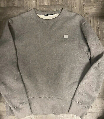 Authentic Acne Studios Gray Fairview Face Sweatshirt  L