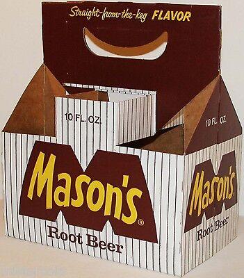 Vintage soda pop bottle carton MASONS ROOT BEER 10oz size unused new old stock