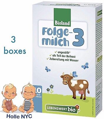 Holle Lebenswert Stage 3 Organic Formula, 3 BOXES, 04/2019 FREE PRIORITY MAIL