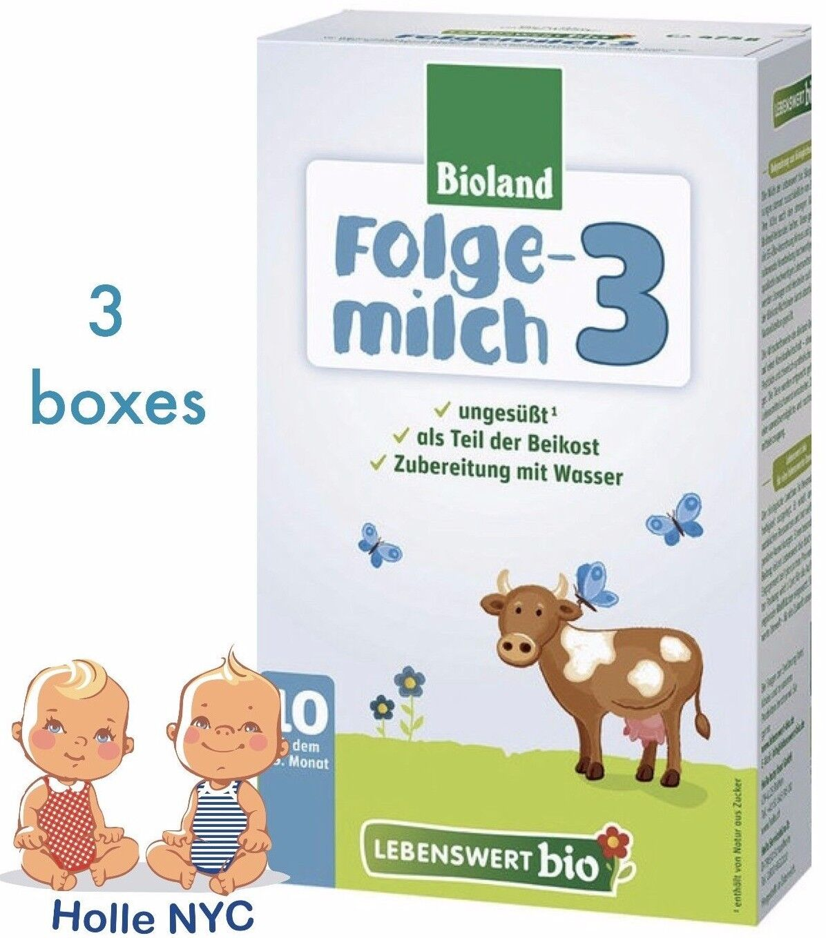 Купить Holle - Holle Lebenswert Stage 3 Organic Formula, 3 BOXES, 09/2019 FREE SHIPPING