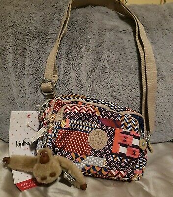 NWT KIPLING Merryl Fanny Pack multicolor Belt Bag Convertible Crossbody Handbag