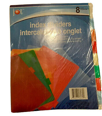 Jot Plastic Standard 3-ring Binder Index Dividers With Tabs Mixed Colors1 Pack