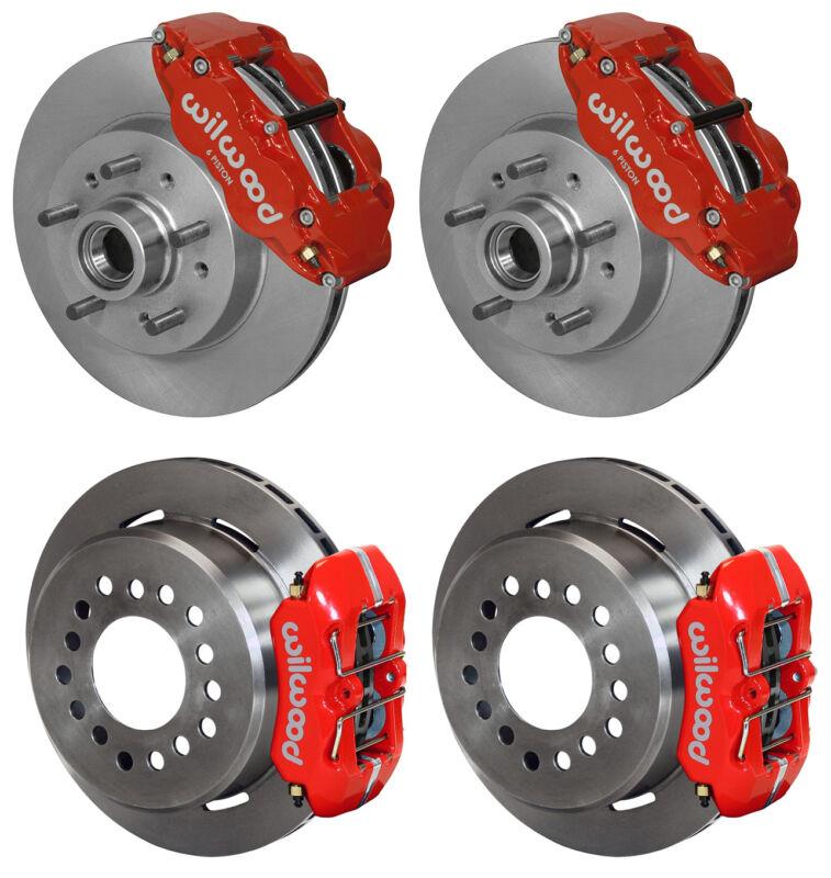 "Wilwood Disc Brake Kit,64-70 Chevy C10,gmc C15,11"" Rotors,red Calipers,lines"
