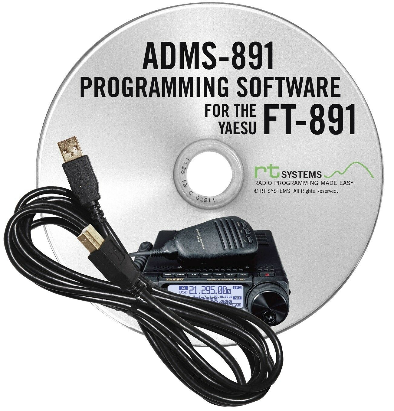 RT Systems FT-991A Programming Software w// RT-42 USB-A to USB-B Cable