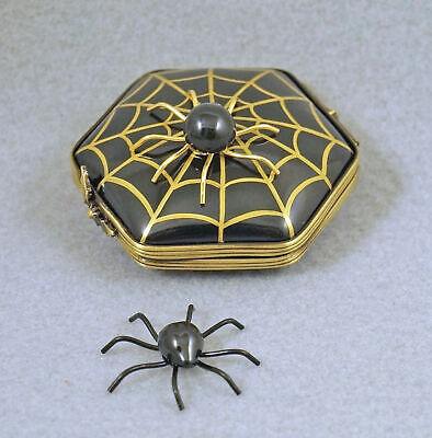 NEW FRENCH LIMOGES TRINKET BOX HALLOWEEN SPIDER WEB W SPIDER & REMOVABLE SPIDER (Limoges Halloween)