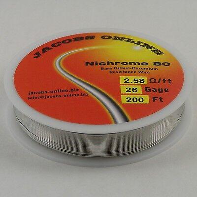 Nichrome 80 Resistance Wire Nichrome V Chromel A 26 Gauge 200 Feet
