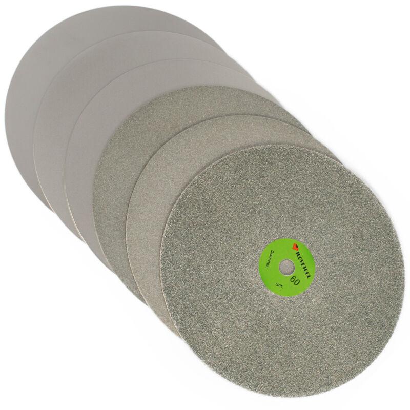 "Diamond coated 8"" inch 60 to 2000 Flat Lap wheel Lapidary lapping polishing disc"