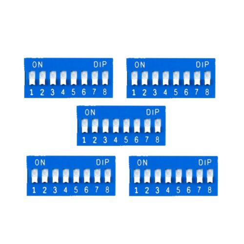 5 Pcs 8 Position DIP Switch for arduino projects