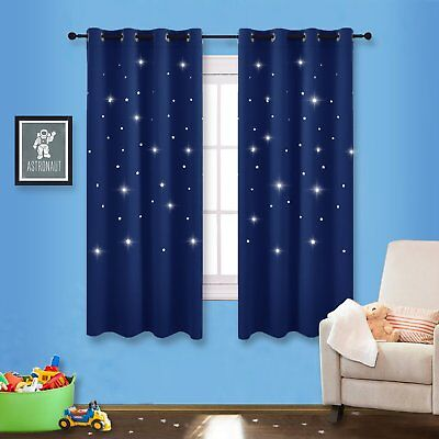 NICETOWN Romantic Starry Sky Blackout Curtains Space Inspire