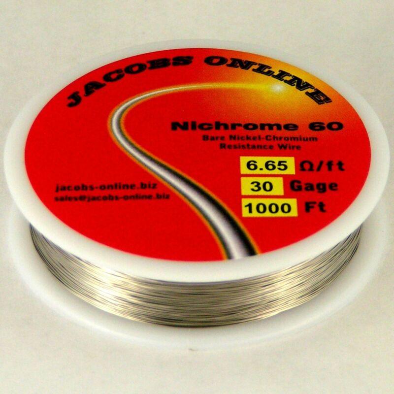 Nichrome 60 resistance wire, 30 AWG (gauge), 1000 feet