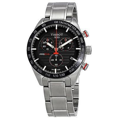 Tissot PRS 516 Chronograph Black Dial T1004171105101 Mens Steel Swiss Watch