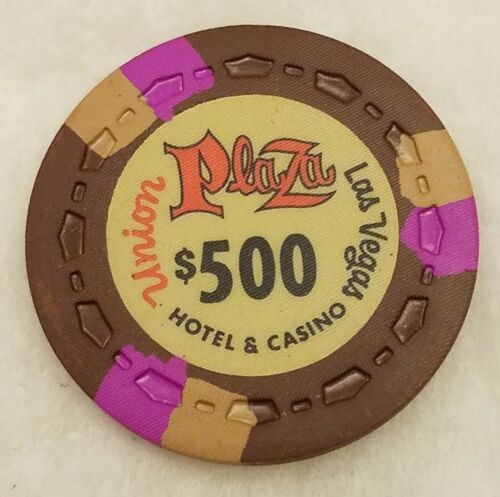 UNION PLAZA $500 Casino Chip Las Vegas Nevada Unused New Free Shipping
