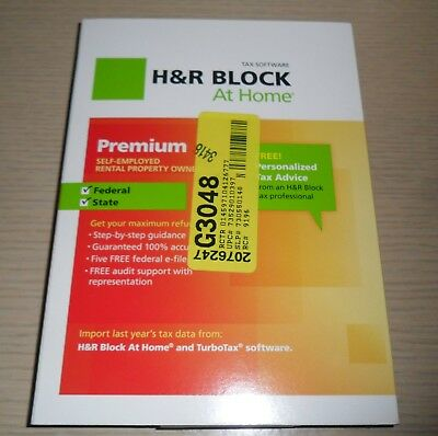 H R Block Tax Software   2012 Premium Self Employed  Rental Property Owners