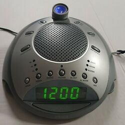 Homedics SS-4000 Alarm Clock AM/FM Radio Nature Sounds Projector & power adapter