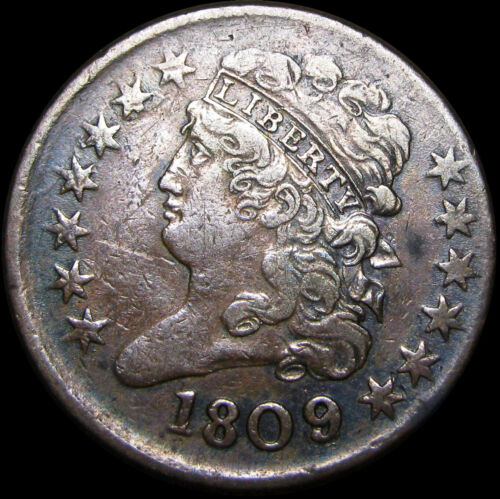 1809/6 Classic Head Half Cent 1/2 Penny Type US Coin  ---- NICE  ---- #B972