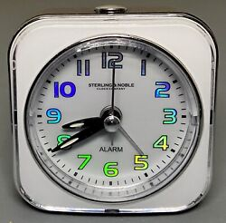 Sterling & Noble Travel Alarm Clock with Light & Hyper Color Numbers Very Cool