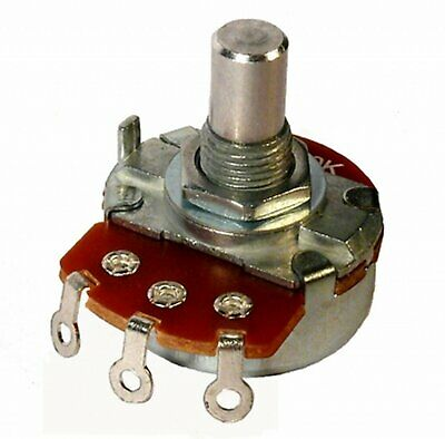 Alpha 5k Linear Taper Potentiometer  8 Mm Bushing 14 Inch Shaftsolder Lug