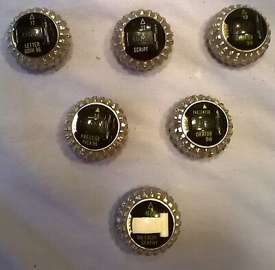 Ibm Selectric Iii Ball Elements Two Remaining To Choose From