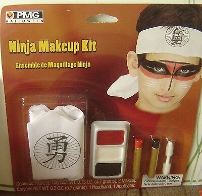 Halloween PMG NINJA Makeup KIT Headband Costume Child Adult FACE Washable](Ninja Costume Makeup)