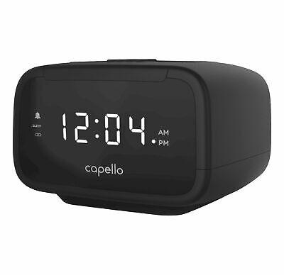 - Capello Sleep Easy Digital Alarm Clock with AM/FM Radio Black CR15