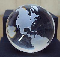 N°3440 N° Mondo Di Cristallo Sfera Mappamondo Ø 8 Cm Palla -  - ebay.it