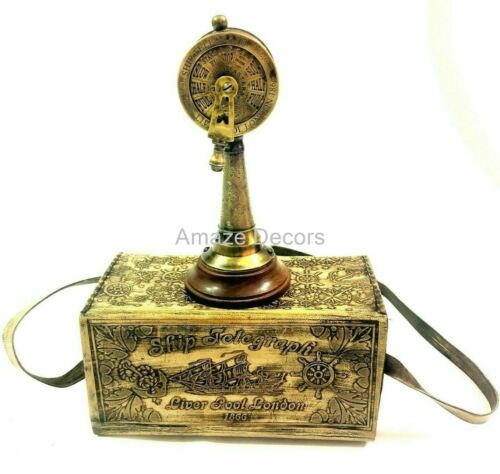 """6"""" Brass Liverpool Engraved Ship"""
