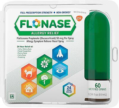 Flonase Allergy Relief Nasal Spray, Allergy Medicine Nose Spray, 24 Hour -