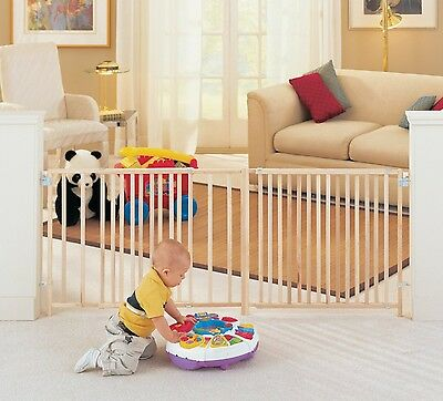 Extra Large Foot 5 6 7 8 Feet ft Long Dog Pet Child Baby Wide Safety Gate Swing