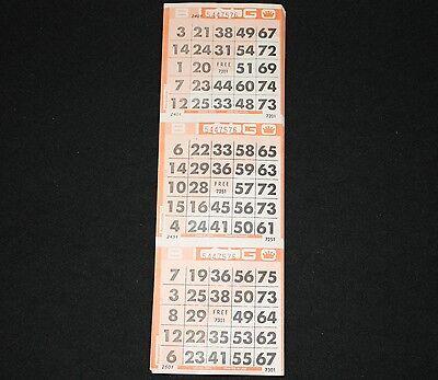 BINGO PAPER Card 3 on Half Coverall triangle pattern Orange 200 sheets FREE SHIP