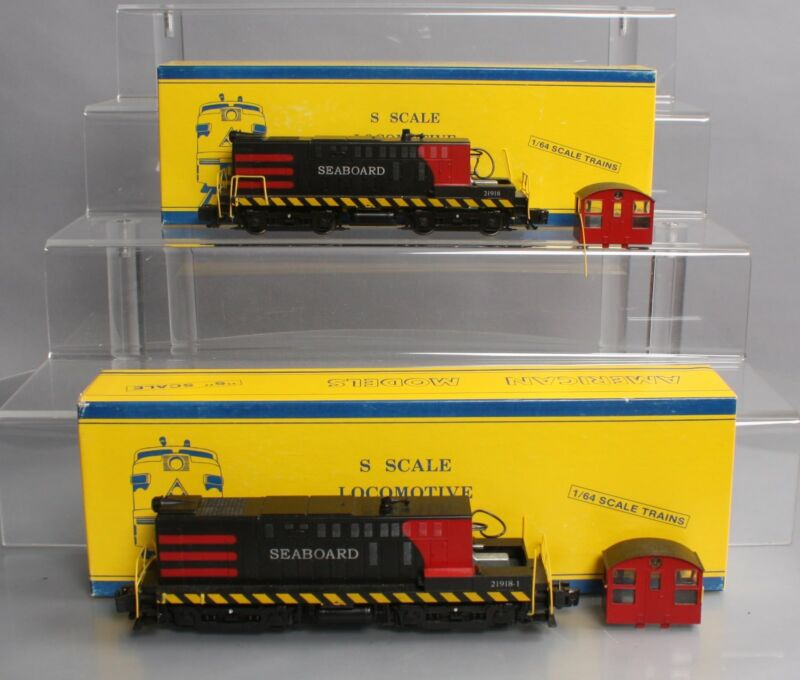 American Models S Gauge Seaboard Diesel Switcher Lot: 21918, 21918-1 [2]/Box