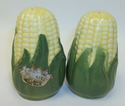 Vintage Shawnee Corn King Salt Pepper Shaker Set