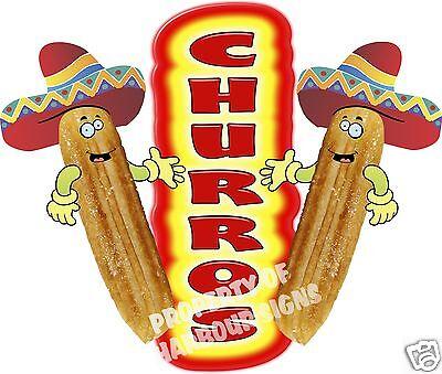 Churros Decal 24 Concession Food Truck Cart Restaurant Menu Vinyl Sign
