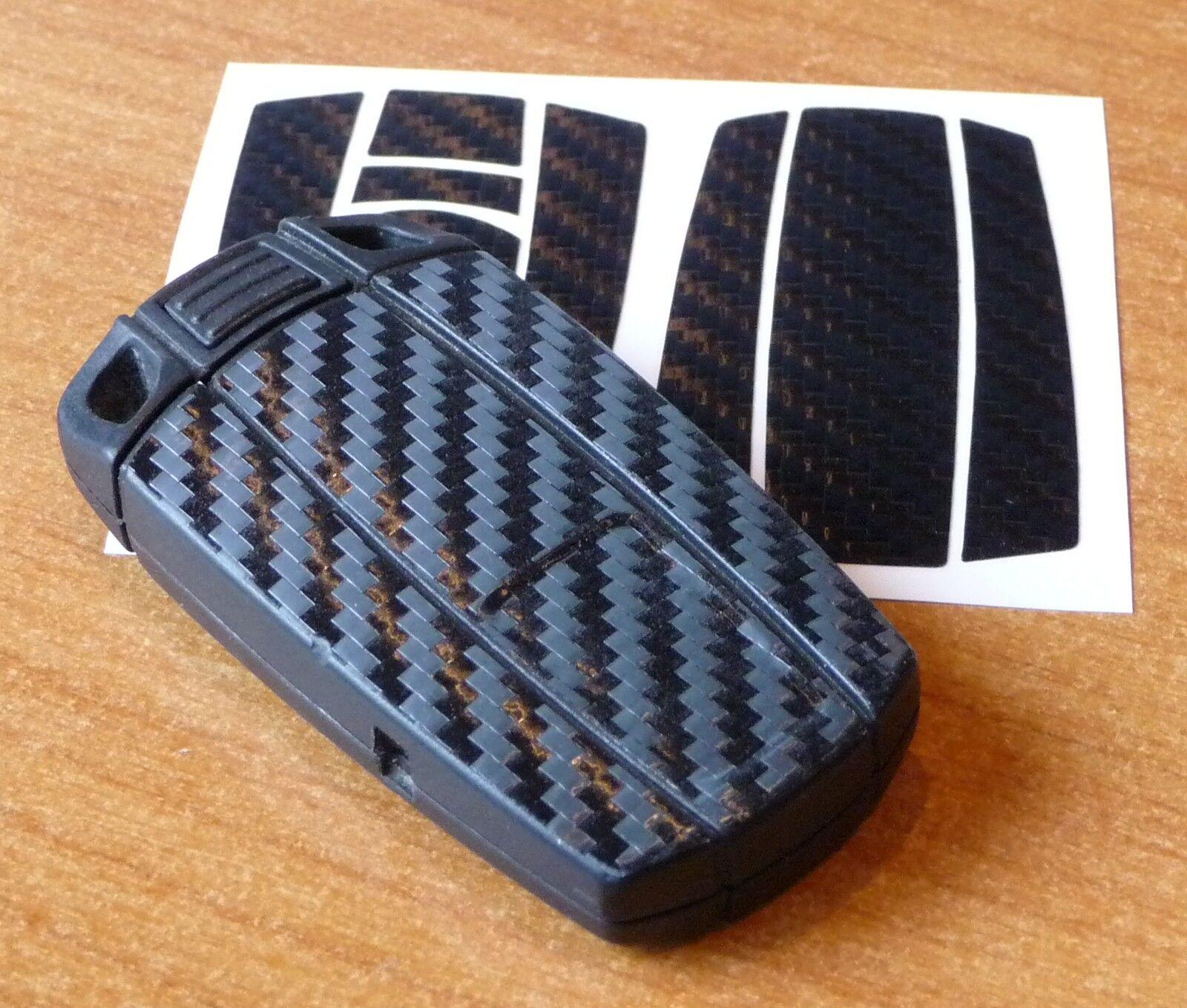 3d carbon aufkleber f r bmw schl ssel in schwarz made in germany 01 10 eur 6 99 picclick de. Black Bedroom Furniture Sets. Home Design Ideas