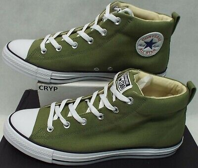 New Mens 10.5 Converse All Star CTAS Street Mid Fatigued Green Shoes $75 157531F
