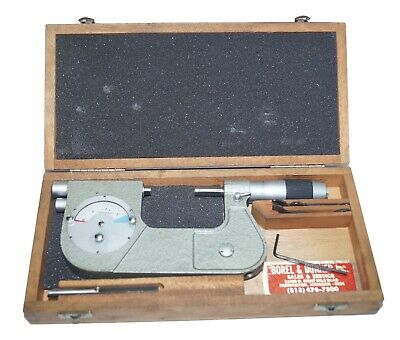 Etalon Indicating Micrometer 1-2 With Anvil Wrenches Case