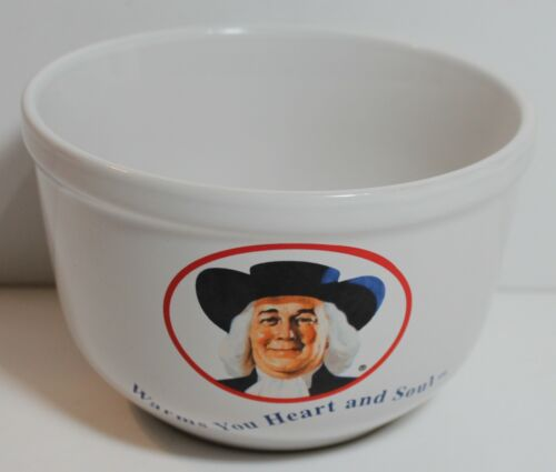 Quaker Oats Cereal Oatmeal Bowl  Vintage 1999 Warms Your Heart & Soul