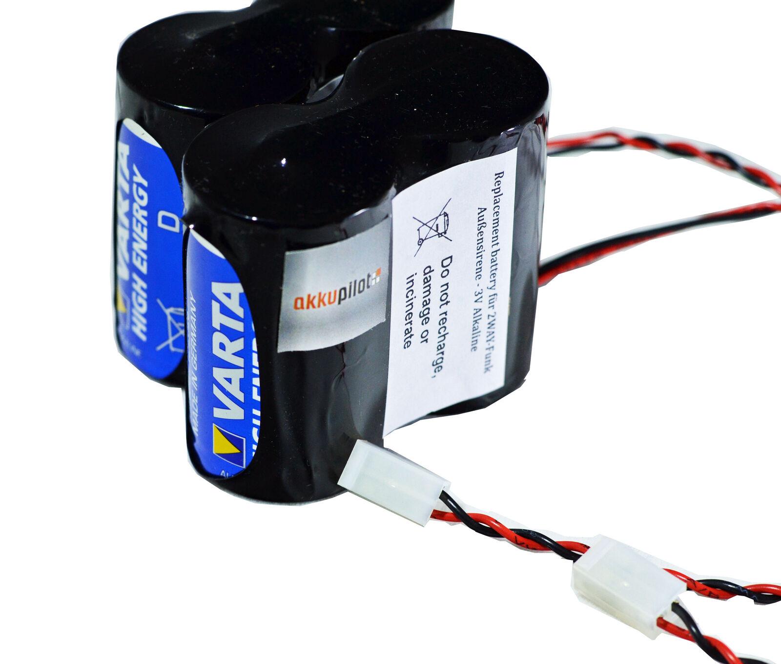 Ersatzbatterie kompatibel ABUS Securi...