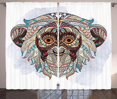 Grunge Pattern Curtains 2 Panel Set Decoration 5 Sizes Windo