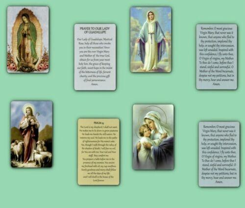 INSPIRATIONAL  LAMINATED HOLY PRAYER CARD LOT OF 4 CARDS