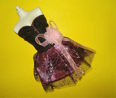 Barbie FASHIONISTA Doll Clothes GOTH GIRL PROM DRESS No Label