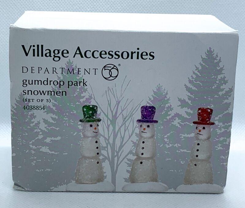 Department Dept 56 Gumdrop Park Snowmen Set Of 3 4038854
