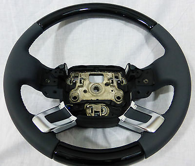 Range Rover & Sport L405 & L494 Grand Black Wood Heated Steering Wheel Lunar OEM