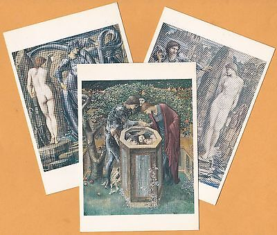 "Edward Burne-Jones, Perseus Series, Lot 10 different art cards from UK, 4"" x 6"""