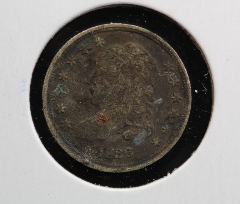 1836 Capped Bust Half Dime 9XYW