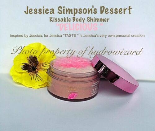 💋Jessica Simpson Dessert ~Taste Delicious Sugar Shimmer Kissable Body Powder