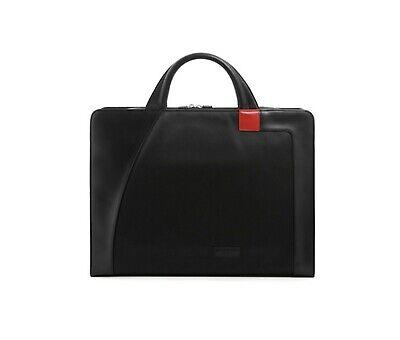 Aaron Irvin Double Zip Microfiber Brief Bag(Black)