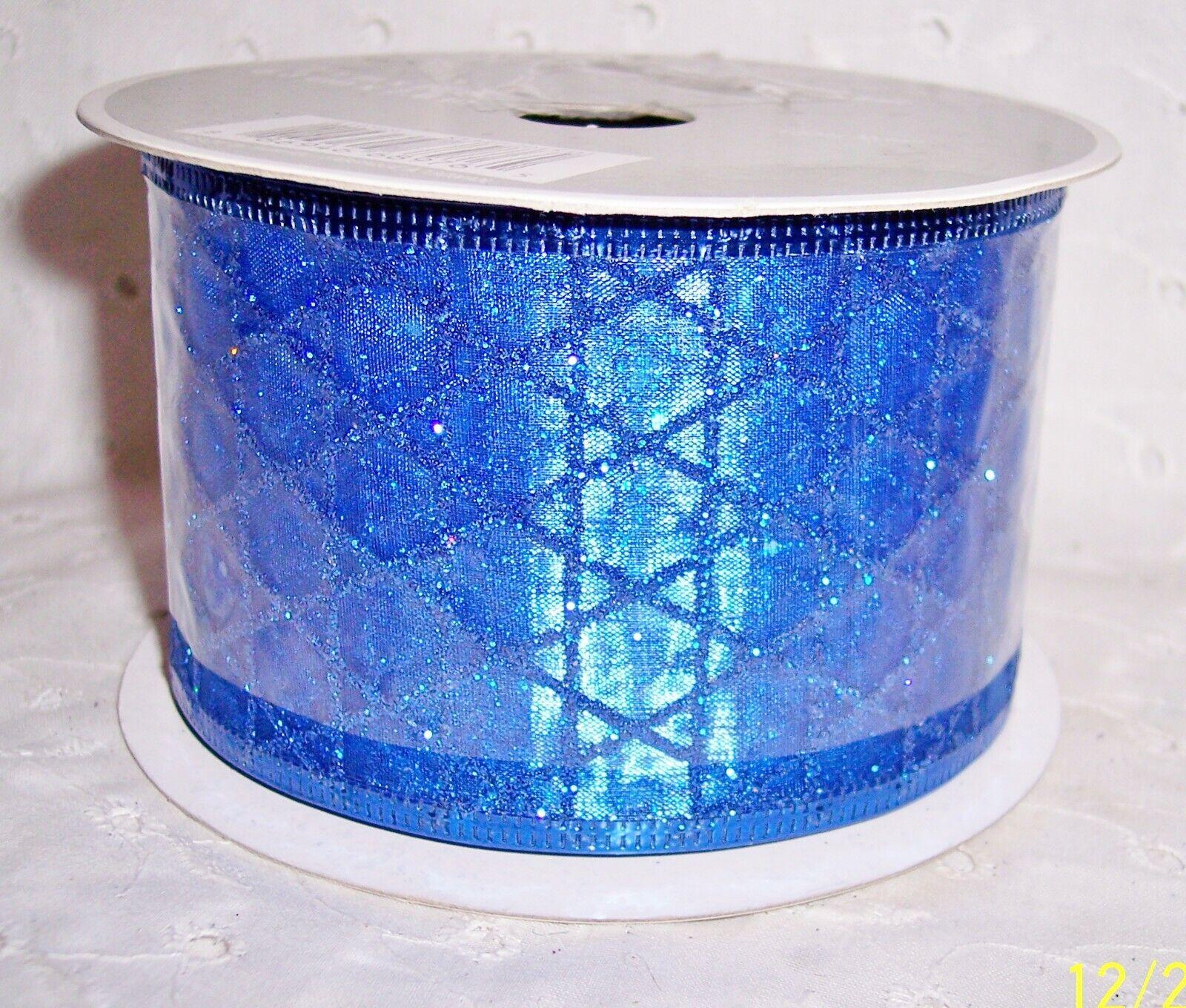 RIBBON WIRE-EDGED BLUE-ORANGE-RED-PURPLE CRAFTS U CHOOSE COLOR - $2.75