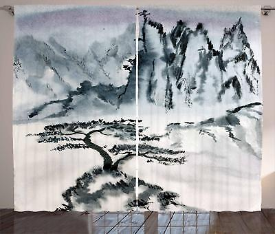 Lonely Tree Curtains 2 Panel Set for Decor 5 Sizes Available